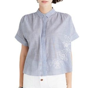 MADEWELL EMBROIDERED HILLTOP SHIRT L NWT